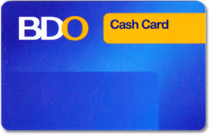 how to get a cash card in bdo